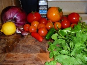 Fresh Salsa Ingredients