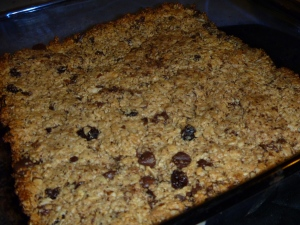 Energy Bars Fresh From the Oven