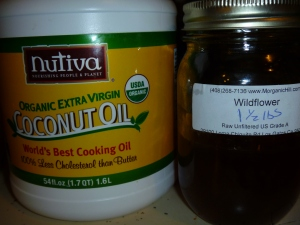 Local Wildflower Honey, Extra Virgin Coconut Oil