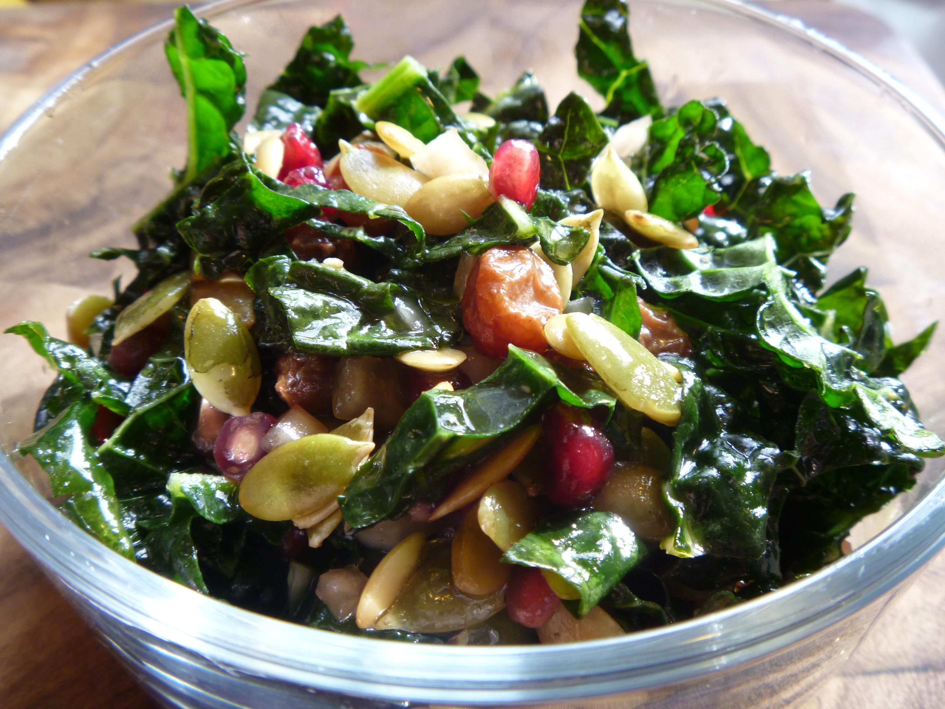 Winter Kale Salad | massageworkslg